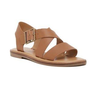 Franco Sarto Karla Leather Buckle Sandal 11M